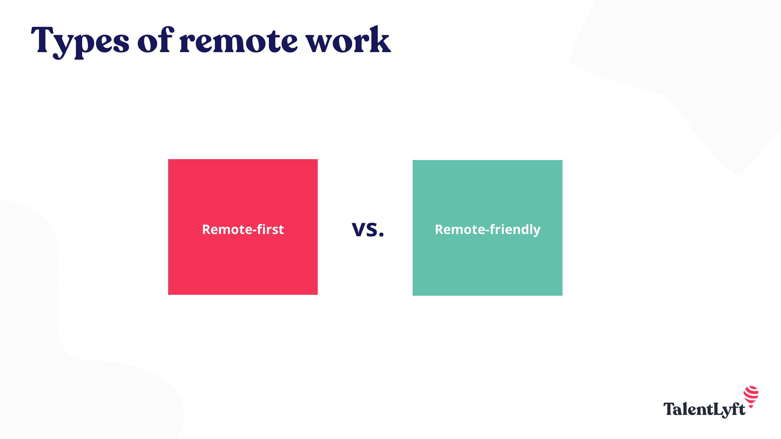Types of remote wrok