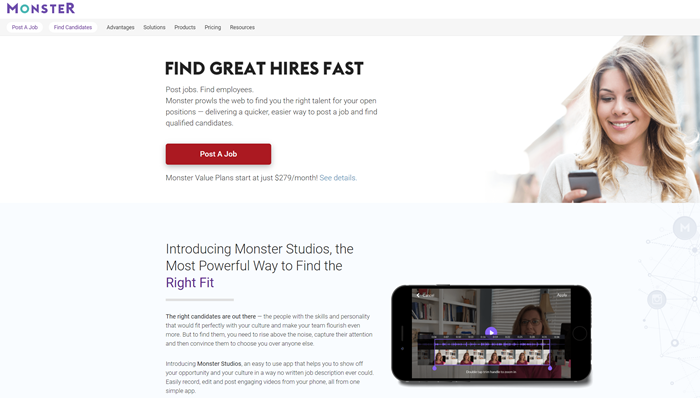 Best-Recruitment-Tools- 2019-Job-boards-and-aggregators-Monster
