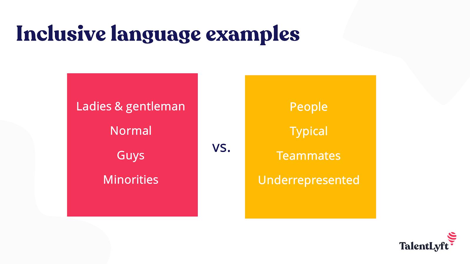 Inclusive language workplace diversity