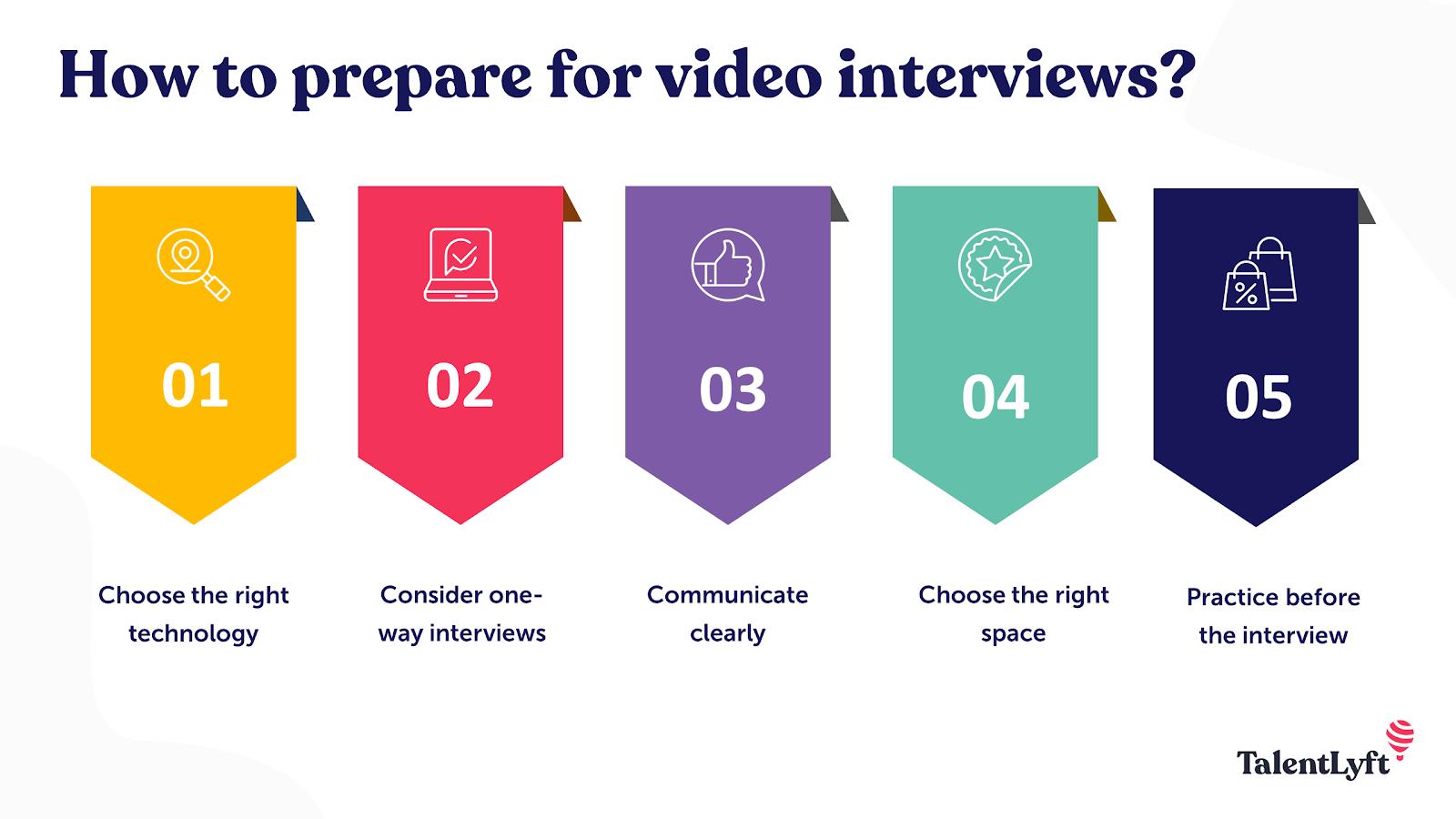 Video interview preparation