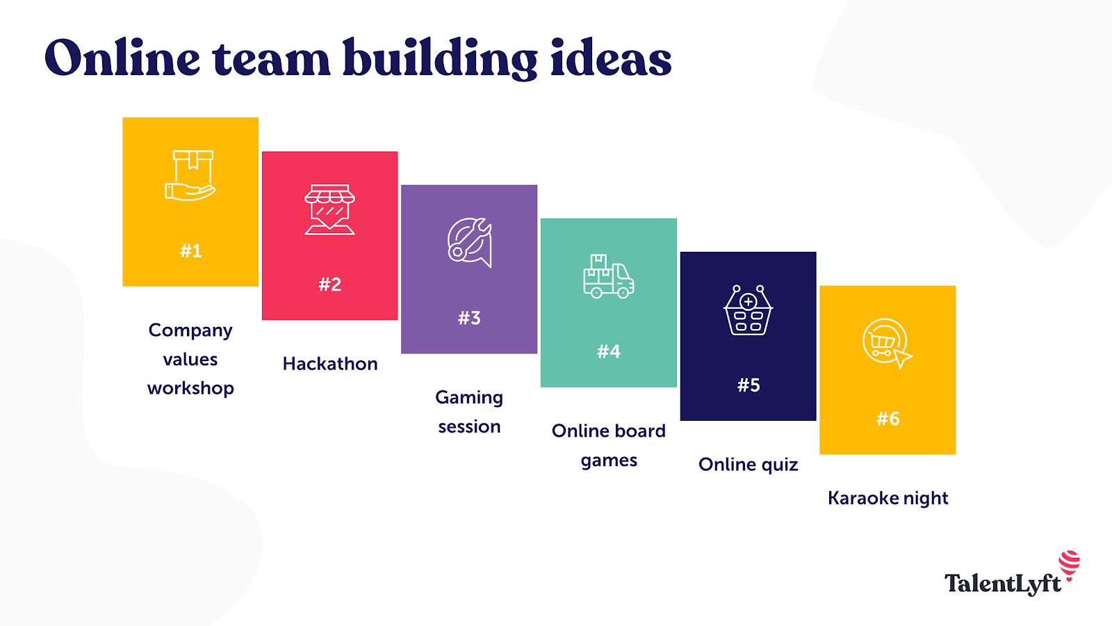Online team building ideas