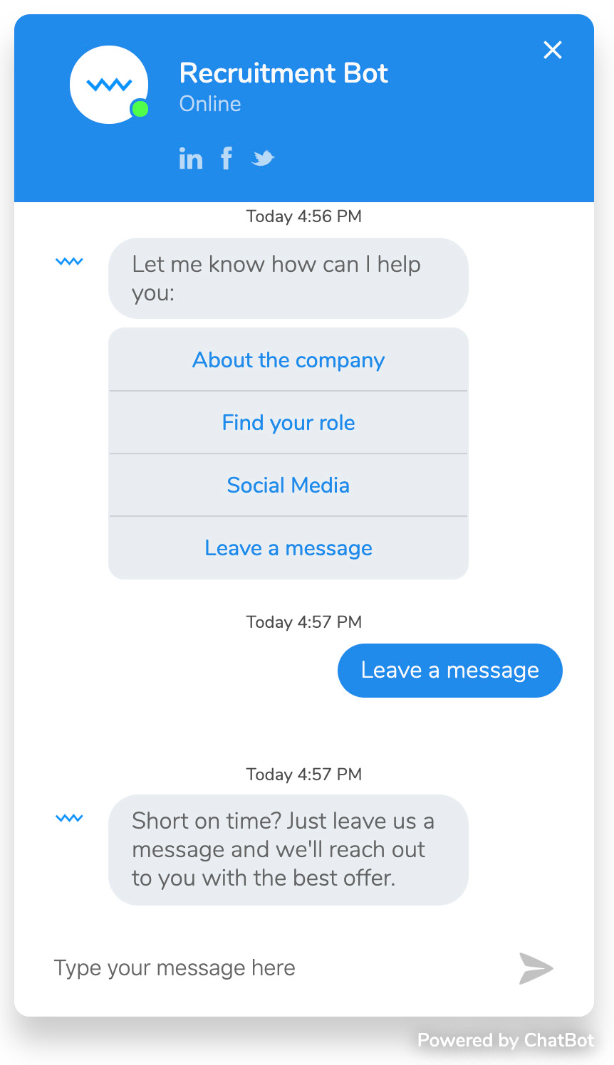 HR trend in 2020: Chatbots