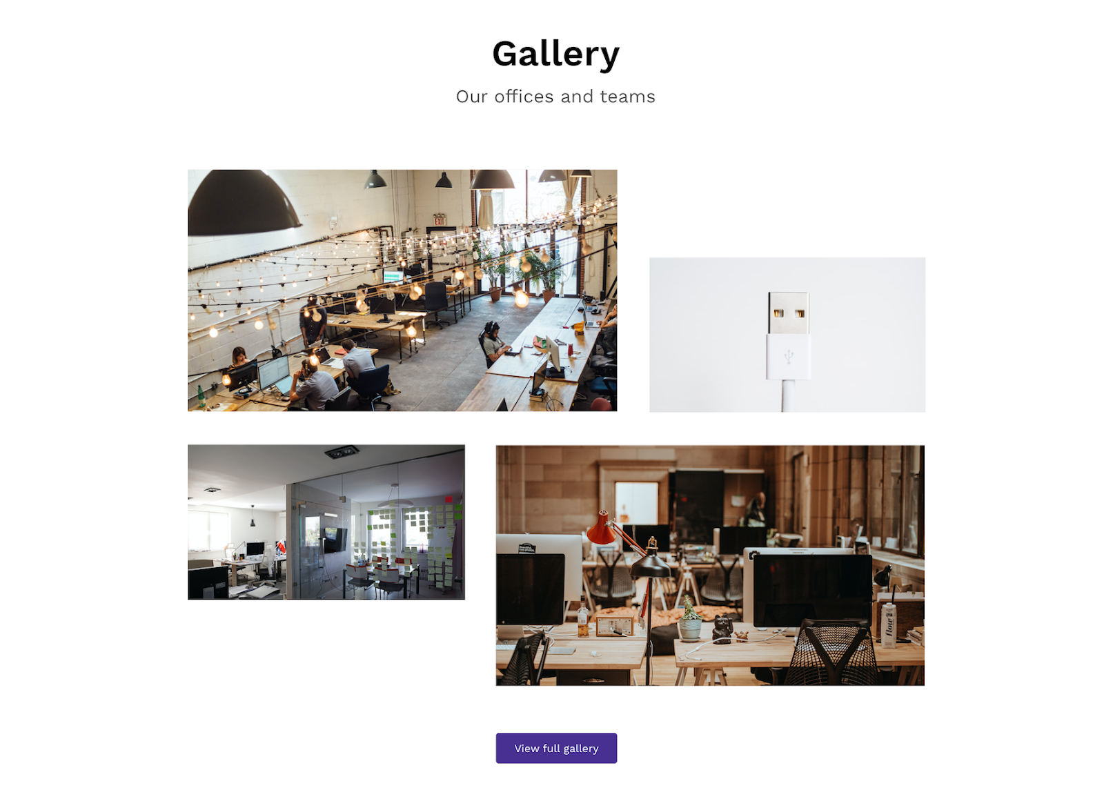 gallery example on career site