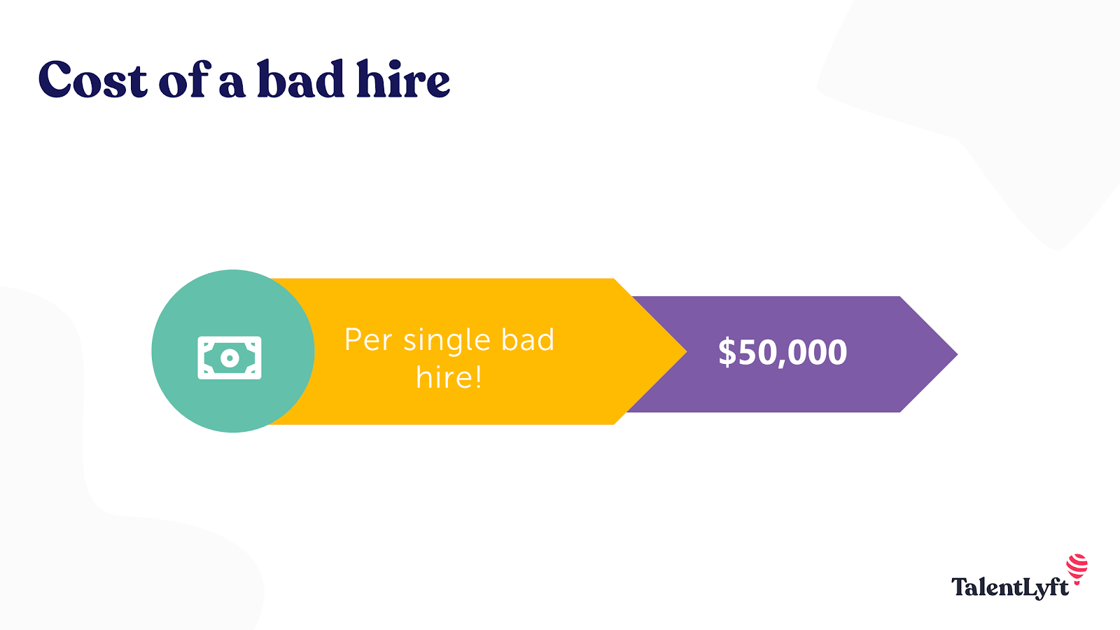 Cost of a bad hire statistic