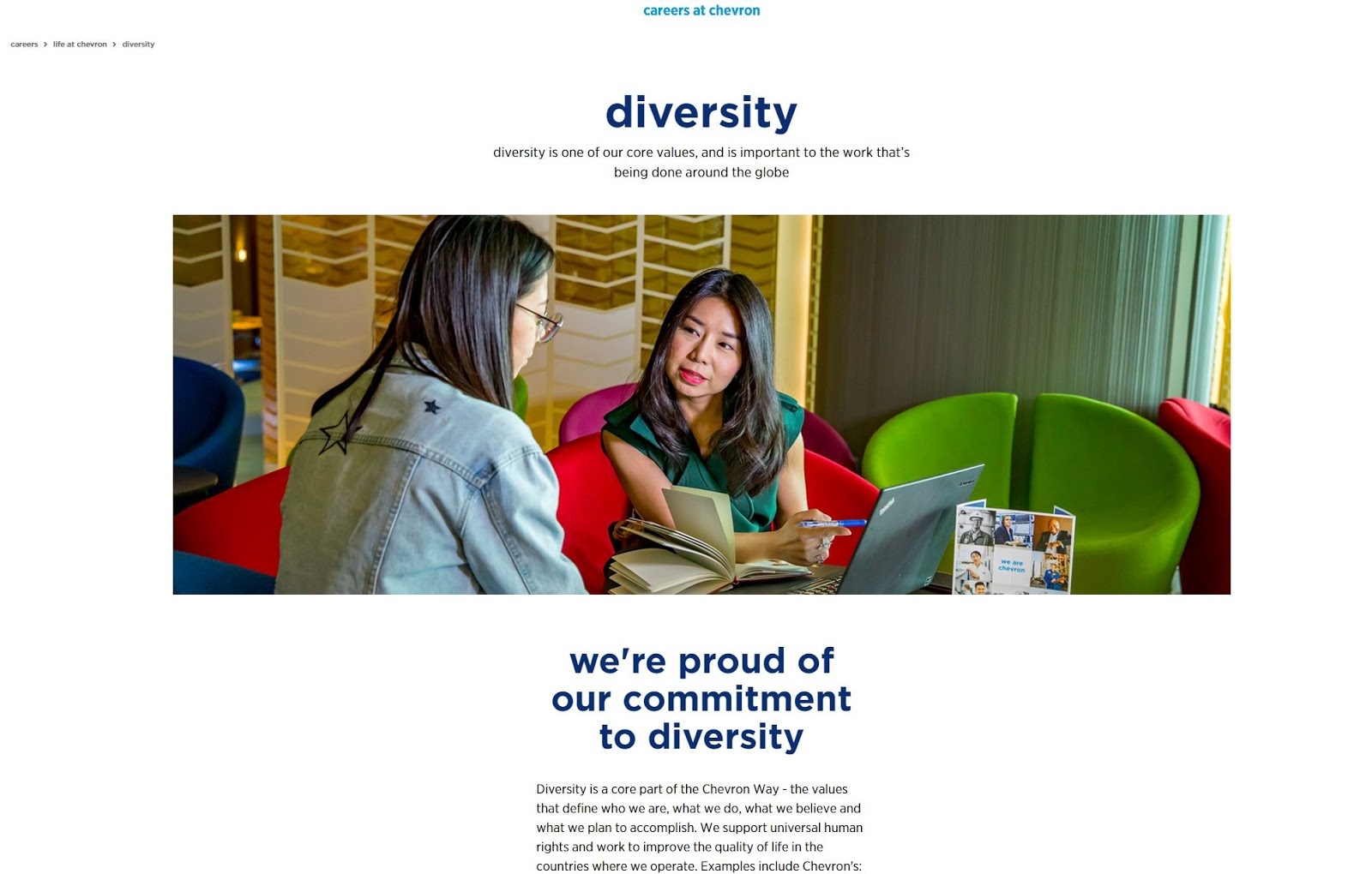 Workplace diversity example