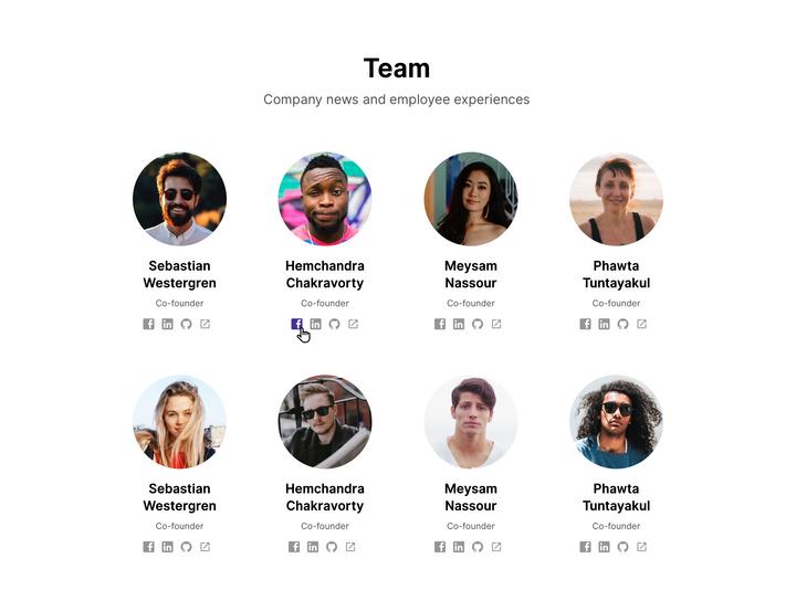 team page career site example