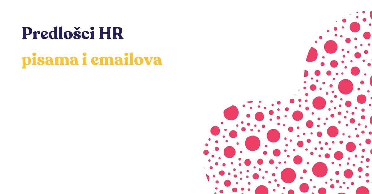 Predlošci HR pisama i emailova