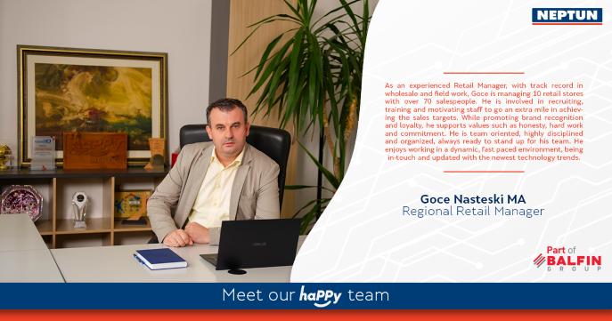 Meet our haPPY team  Goce Nasteski