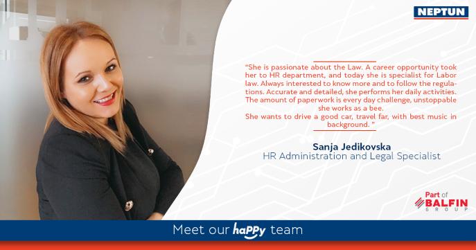 Meet our haPPy team - Sanja Jedikovska