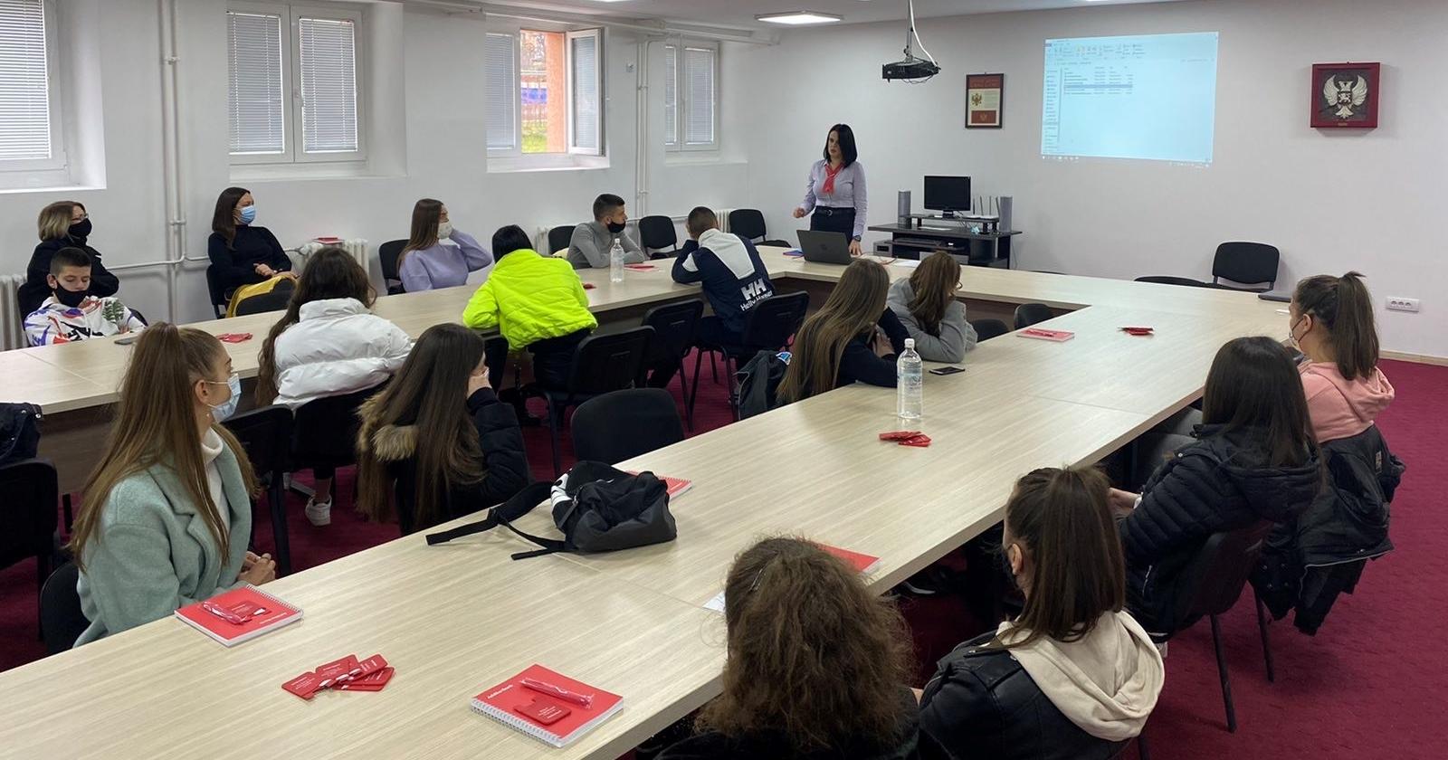 Stručno predavanje učenicima u Bijelom Polju