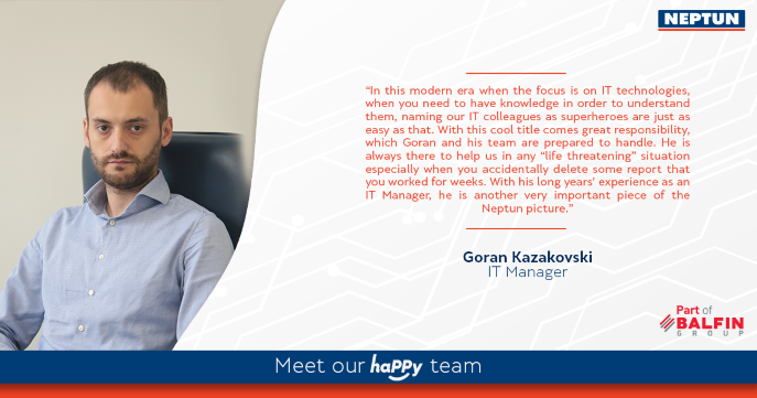Meet our haPPy team - Goran Kazakovski
