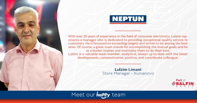 Meet our happy team - Lulzim Limani