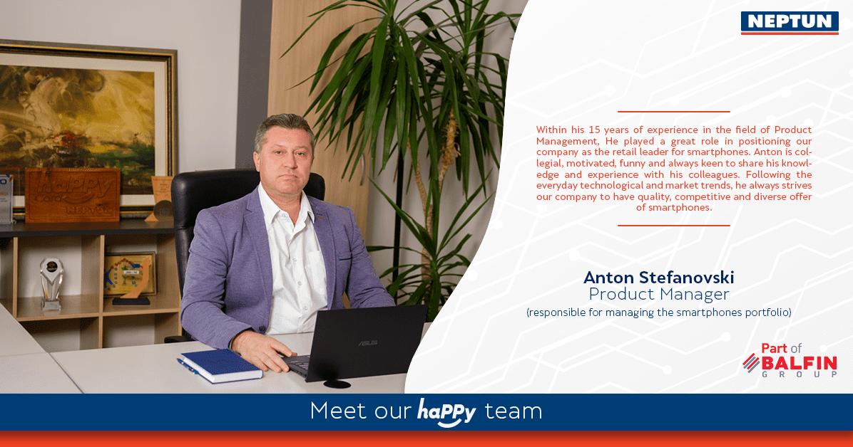 Meet our haPPy team  Anton Stefanovski