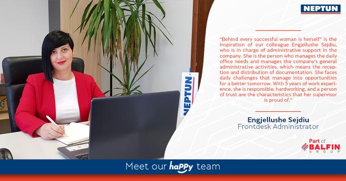 Meet our haPPy team - Engjellushe Sejdiu