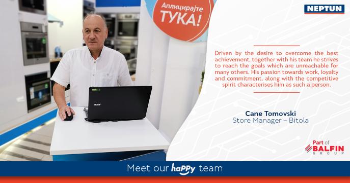 Meet our haPPY team -  Cane Tomovski