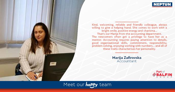 Meet our haPPy team- Marija Zafirovska